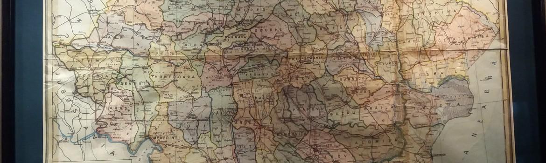 Harta Romania pe judete si administrativa 1934
