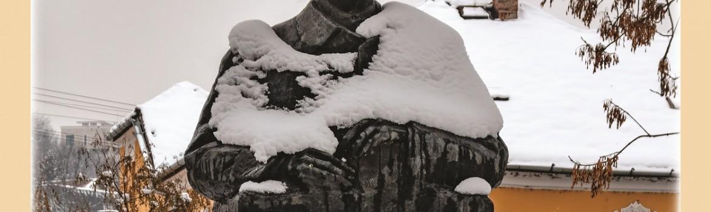 Statui-ale-Clujului-atinse-de-nea