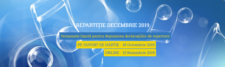 CREDIDAM - depunere declaratii - repartitie decembrie 2019