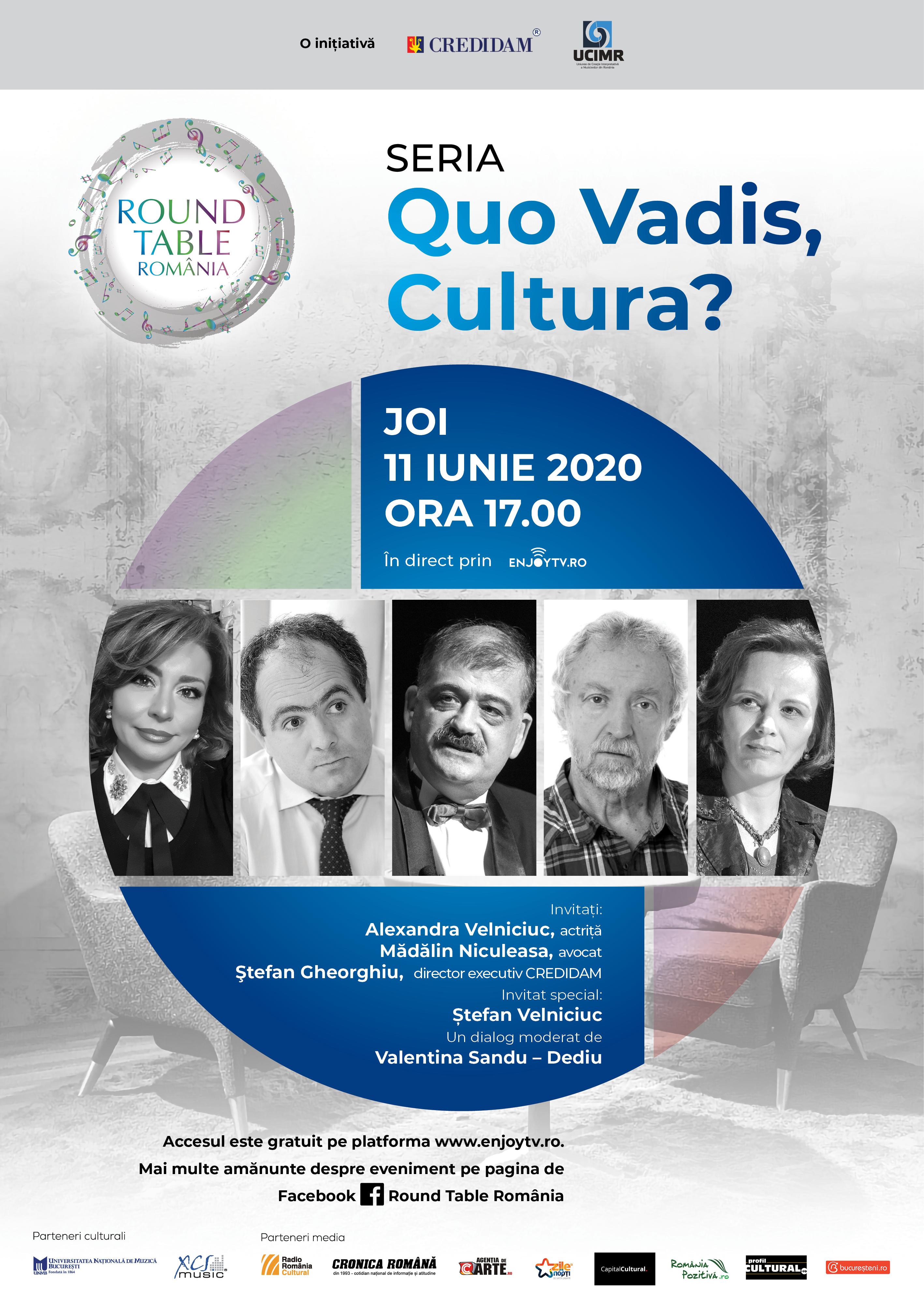 Poster Quo Vadis Cultura Ep 3 Legislatie taxe